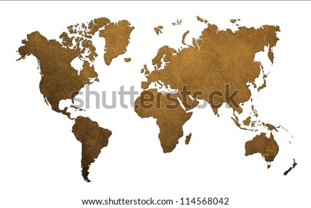 Antique of World MAP Design Concept - stock photo