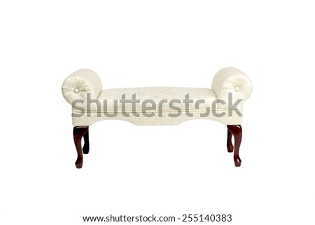 antique old-fashioned upholstered bench