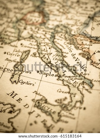 Antique old map Italy #615183164