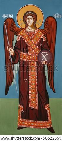Antique orthodox paint called icon, Serbia. Zdjęcia stock ©