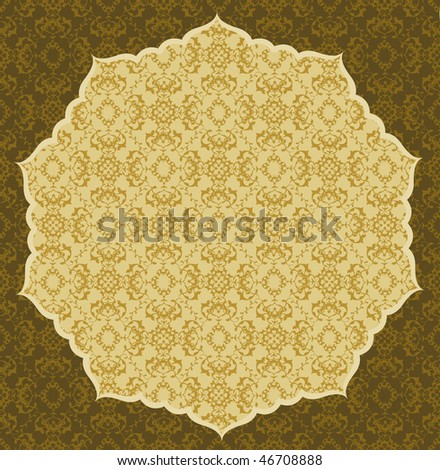 Antique ottoman seamless wallpaper design