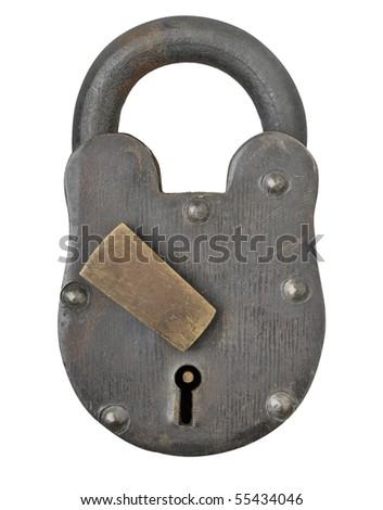 Antique padlock - stock photo