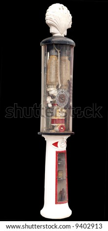 Antique Petrol Pump - stock photo