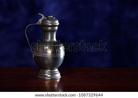 Antique Pewter mug #1087329644