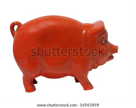 antique piggy bank isolated...