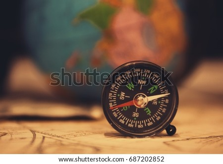 antique pirate world map and...