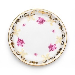 Antique plate on white background