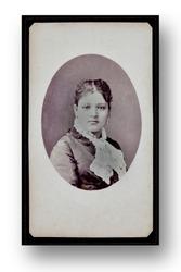 Antique Portrait of a Lady. Photography Studio. Vintage. 1900