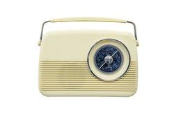Antique radio on a white background