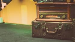 Antique Radio Suitcase