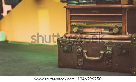 Antique Radio Suitcase #1046296750