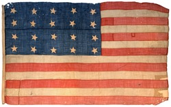 Antique Rare Early American Flag, 20 Stars, 1818, American Navy Flag, 19th Century