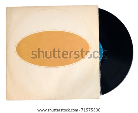 Antique Record with Sleeve isolated on white