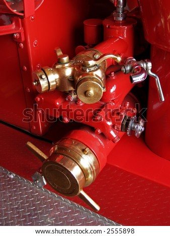 antique restored firefighters truck