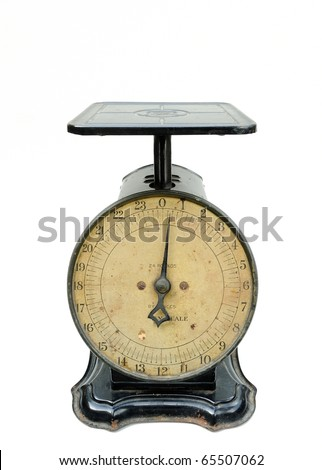 antique scale isolated on white