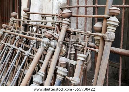 antique shop  wrought iron...