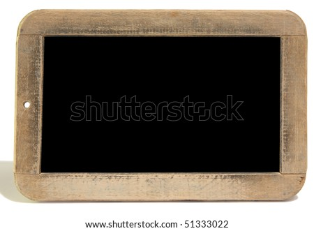 Antique slate, black background