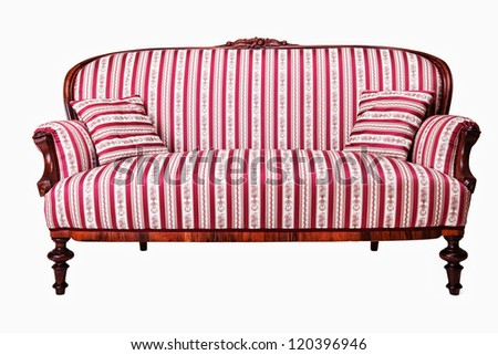 Antique sofa isolated on white