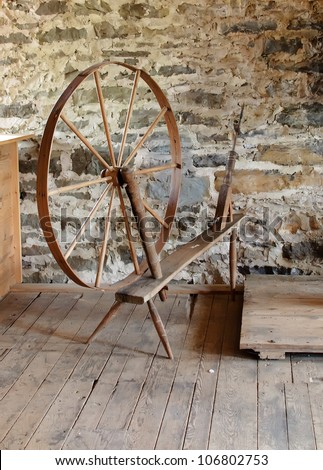 antique spinning wheel for...
