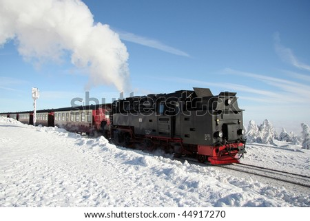 antique steam locomotive in germany