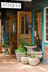 Antique store on Main street in Fredericksburg, Texas