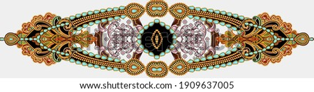 Antique style gold flowers, leaves. Decorative elegant luxury design. golden elements in baroque, rococo style pattern. Сток-фото ©