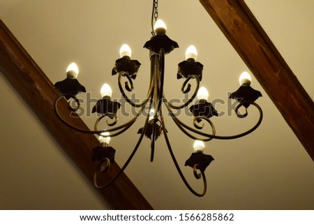 Antique stylized design of ceiling lamp #1566285862