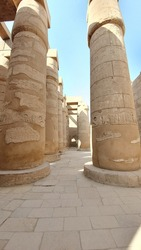 Antique temple in Luxor, Collumned hall