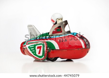 antique tin toy
