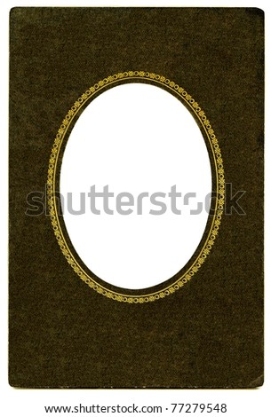 Antique tintype Oval cardboard frame