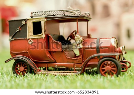 Antique Toy Car vintage style.
