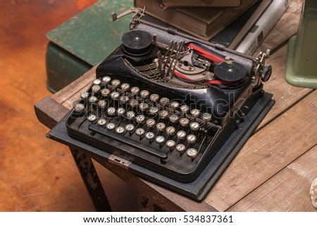 Antique typewriter  #534837361
