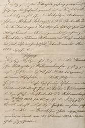 Antique unreadable calligraphic handwriting