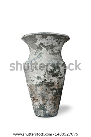Antique vases or old vases that are isolated on a white background that separates objects. There are Clipping Paths for the designs and decoration  #1488527096