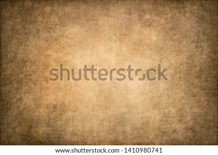 Antique vintage grunge texture pattern.Abstract old background with gradient fine art design and vignette and copy space. #1410980741