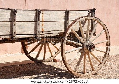 antique wagon in tombstone ...