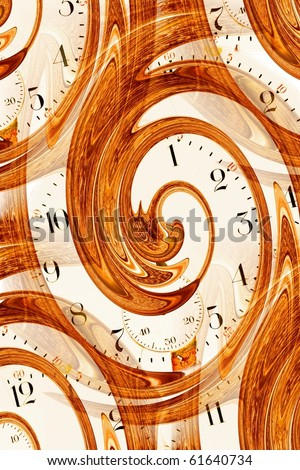 Antique watch face time abstract
