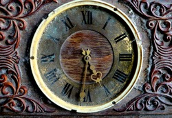 Antique watch of the golden time. Beautiful vintage watch. Clock of the last century.