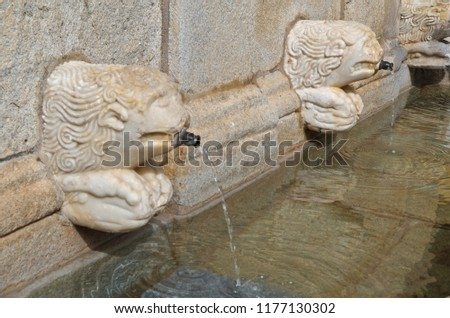 Antique water fountain in Castelo de Vide, Portugal