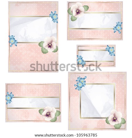 Antique white and pink wedding banner with flowers (jpg); EPS10 version also available