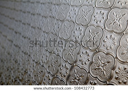 Antique window glass pattern for background
