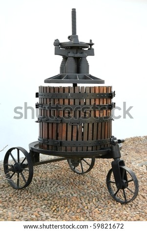Antique wine press from the 1800's in South Africa
