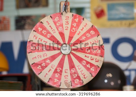 antique wood ancient wheel of fortune