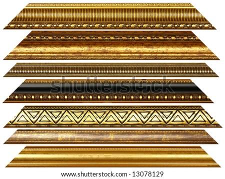 Antique wooden decorative golden borders