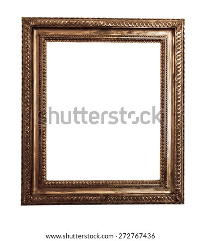 antique wooden frame On white background #272767436