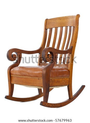 Wooden Outdoor Rocking Chairs - Brazilian Cherry Wood & Painted