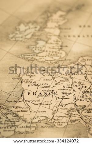 Antique world map france ez canvas antique world map france gumiabroncs Choice Image