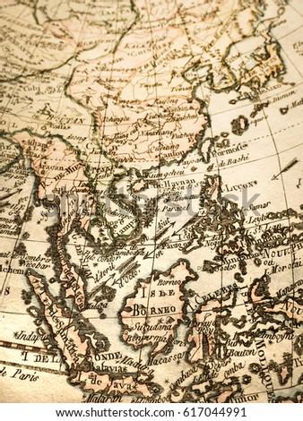 World Map Of Southeast Asia.Antique World Map Southeast Asia Ez Canvas
