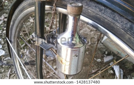 antiques on antique bicycle parts. #1428137480