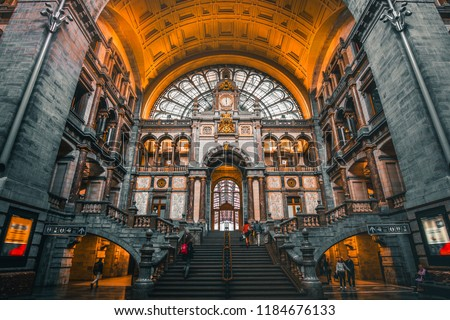 Antwerp train station Belgium #1184676133